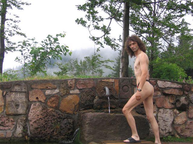 hipster Am Brunnen