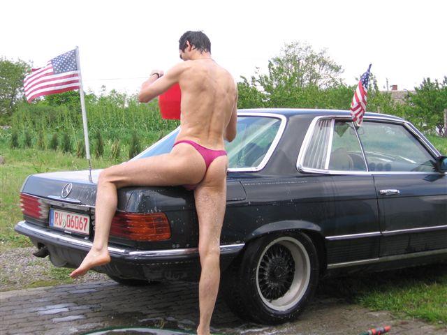 thong bikini Auto Waschen