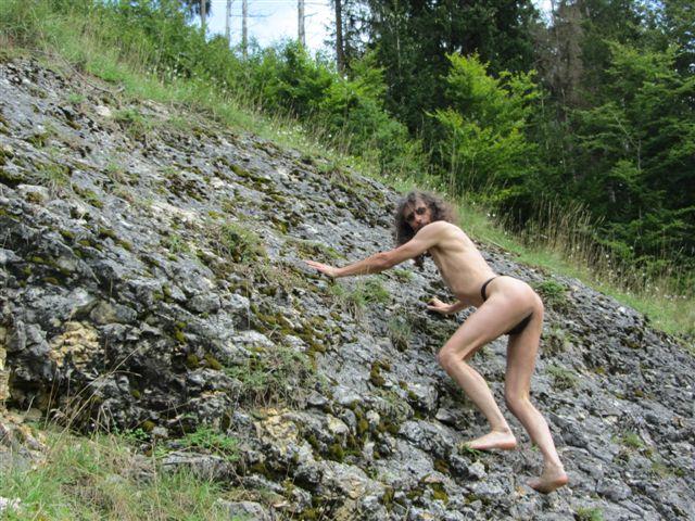 thong bikini Bergsteigen