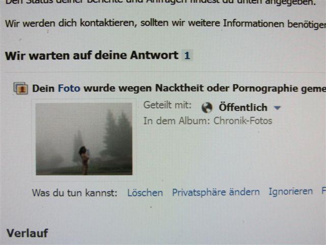 Urlaub Facebook Zensur