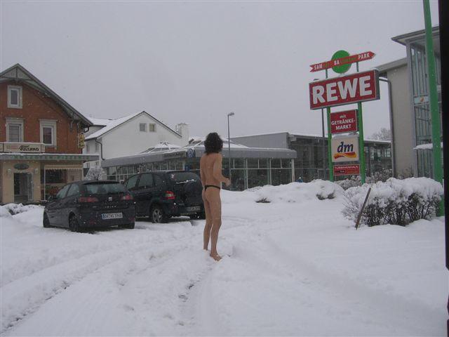 hipster Im Schnee