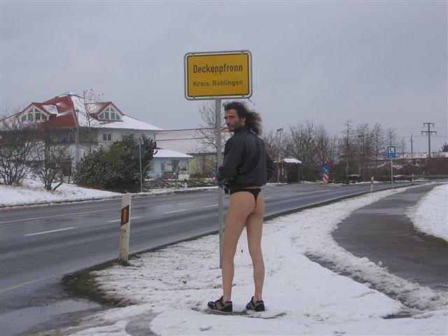 Tanga Im Schnee