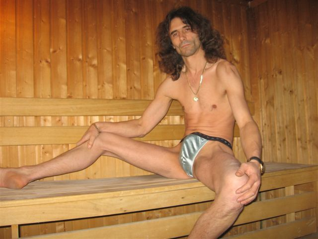 Men String Tanga Sauna